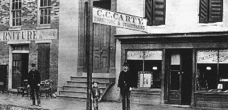 A photo of the Carty Furniture Shop, which today holds the National Museum of Civil War Medicine