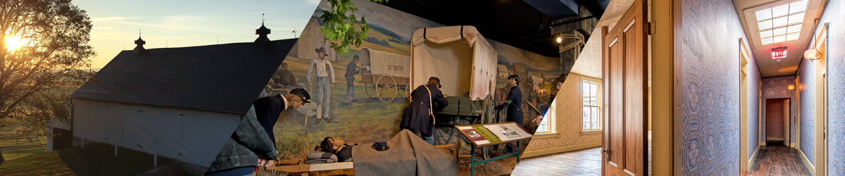 The Pry House Field Hospital Museum Barn, the National Museum of Civil War Medicine, and the Clara Barton Missing Soldiers Office Museum Room 9