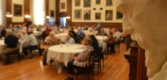 Attendees enjoy dinner at the annual conference on Civil War medicine