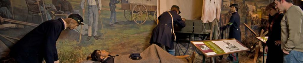 Visitors learn how Civil War Medicine laid the groundwork for our modern emergency medical care system in one of the National Museum of Civil War Medicine's galleries. Image Courtesy of Frederick Tourism