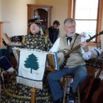 Evergreen Shade performs inside the Pry House Field Hospital Museum