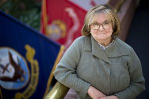 Colonel Laura Ruse Brosch, PhD RN, US Army Retired, recipient of the 2015 Letterman Award, is distinguished by her tireless work for the rights and well-being of patients. Image Courtesy of the Frederick News Post