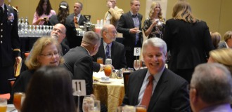 Attendees enjoy good food and good company at the 8th Annual Letterman Award Dinner