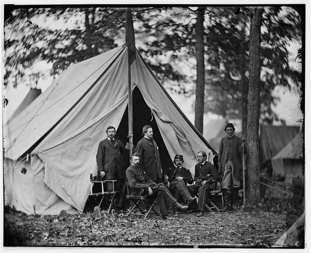 Warrenton, Va. Dr. Jonathan Letterman, medical director of the Army of the Potomac and staff, Photograph by Alexander Gardner, November 1862, Image courtesy of the Library of Congress