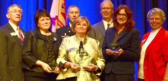 The 2015 Nominees pose with Letterman Award Winner, COL Laura Ruse Brosch
