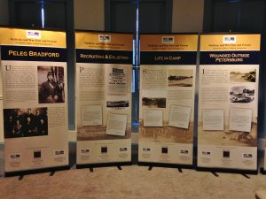 A traveling exhibit on Peleg Bradford, a remarkable, typical Civil War soldier