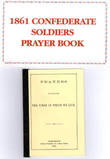 1861 Confederate Soldiers Prayer Book
