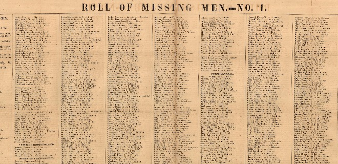 Clara Barton's Roll of Missing Men
