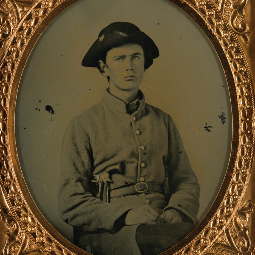 Confederate Soldier, Courtesy of the LOC