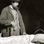 Dr. Richard Burr embalming a fallen soldier, Courtesy of the Library of Congress