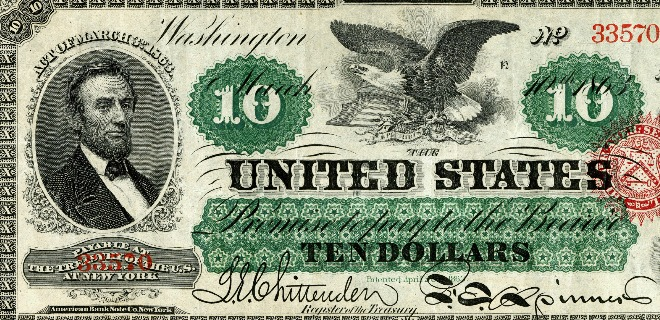 Civil War era $10 bill