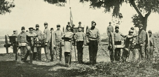 Confederate Soldiers get in Formation during the Civil War