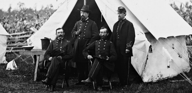 Union Army Surgeons chilling in Virginia