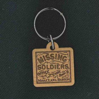 Clara Barton Missing Soldiers Office Keychain