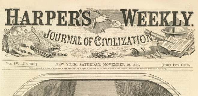 The header of Harper's Weekly, 1860