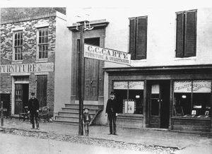 The historic Carty building in 1884