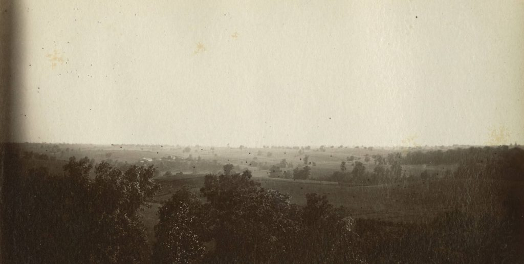 A post-war photograph showing the same scene Forbes drew in 1862. (SMU)