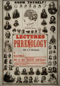 Poster for a lecture on phrenology, Courtesy of the New York State Library