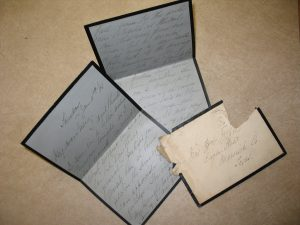Mourning Stationary, Courtesy of the University of Texas at San Antonia Archives