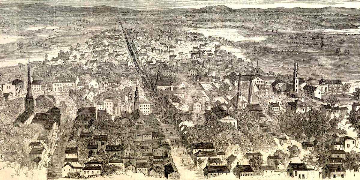 Frederick, MD in 1862, Courtesy of Crossroads of War