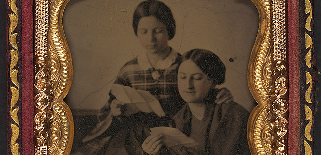 Photo of two unknown women- Civil War Medicine Museum