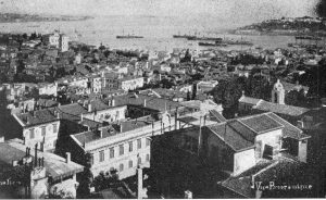 View from the Red Cross Headquarters in Constantinople, Turkey. From Clara Barton: The Red Cross, 1898