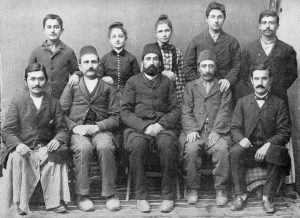 Group of Armenian teachers and pupils. From Clara Barton: The Red Cross, 1898