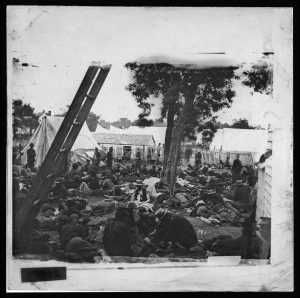 Wounded at Savage Station, VA, 1862. Courtesy of the Library of Congress