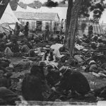 Wounded at Savage Station, VA, 1862. Courtesy of the Library of Congress- Civil War Medicine & Clara Barton Museum