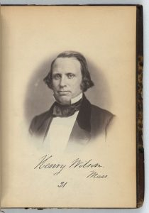 Senator Henry Wilson, 1859. Courtesy of the Library of Congress