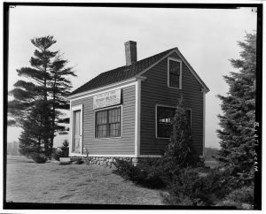 Henry Wilson's Shoe Shop, West Central and Mill Streets, Natick, MA.  Courtesy of the Library of Congress
