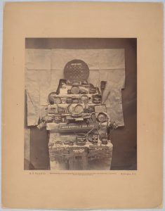 Relics of Andersonville Prison from the collection brought from there by Clara Barton and Dorence Atwater, 1865. Courtesy of the Library of Congress
