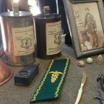 Civil War artifacts arranged on a table- Civil War Medicine Museum