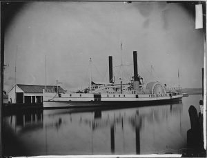 Clara Jones worked aboard the pictured hospital steamer, the State of Maine, in August of 1862. Courtesy of the National Archives