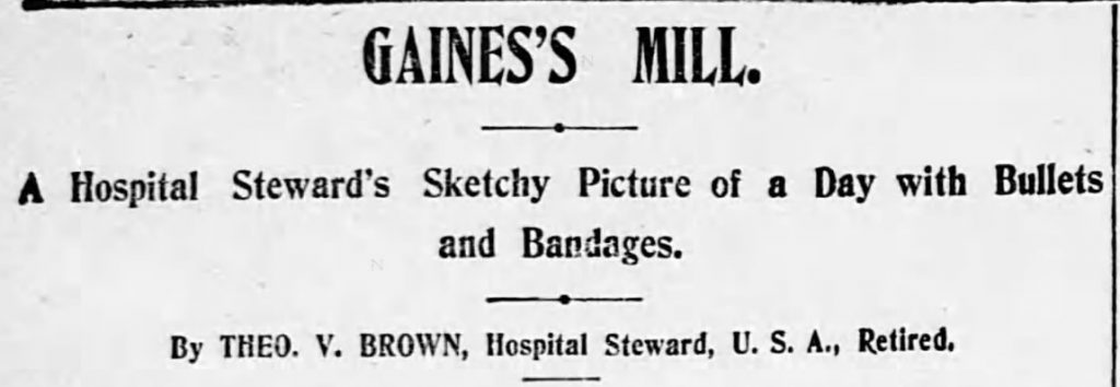 Gaines Mill Headline