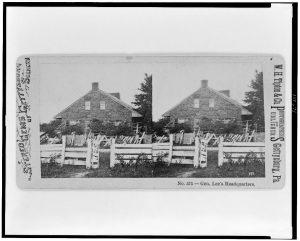 Robert E. Lee's headquarters, Gettysburg, PA. Courtesy of the Library of Congress