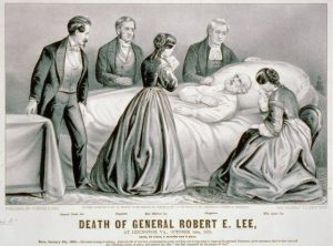 Currier & Ives drawing of the death of Robert E. Lee, October 12, 1870. Courtesy of the Library of Congress