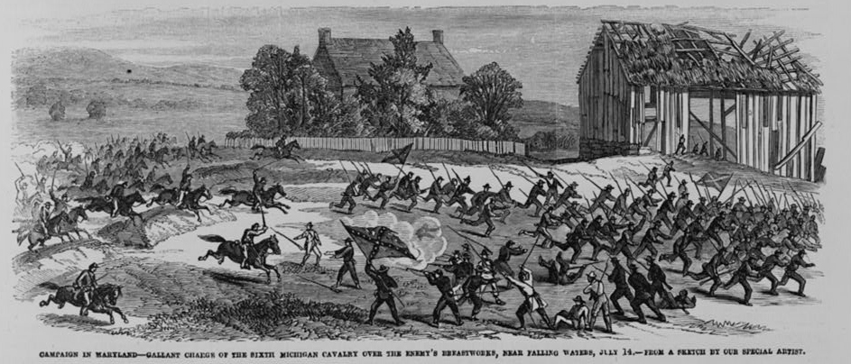 Harpers Weekly Illustration of the Battle of Falling Waters