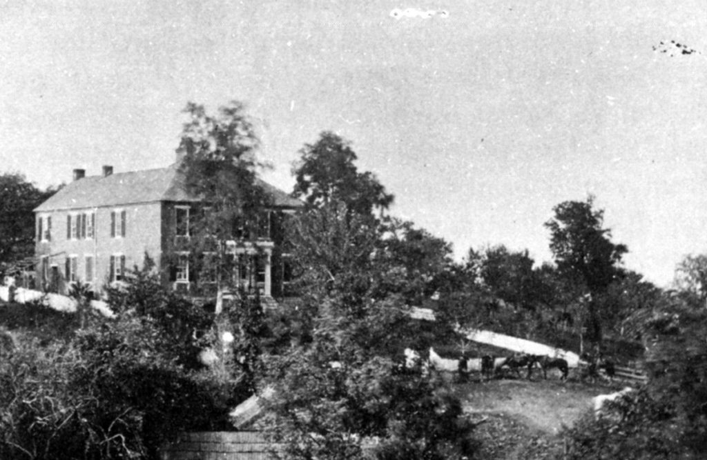 1862 photograph of the Pry House- Civil War Medicine Museum