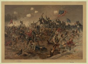 Drawing of the Battle of Spotsylvania