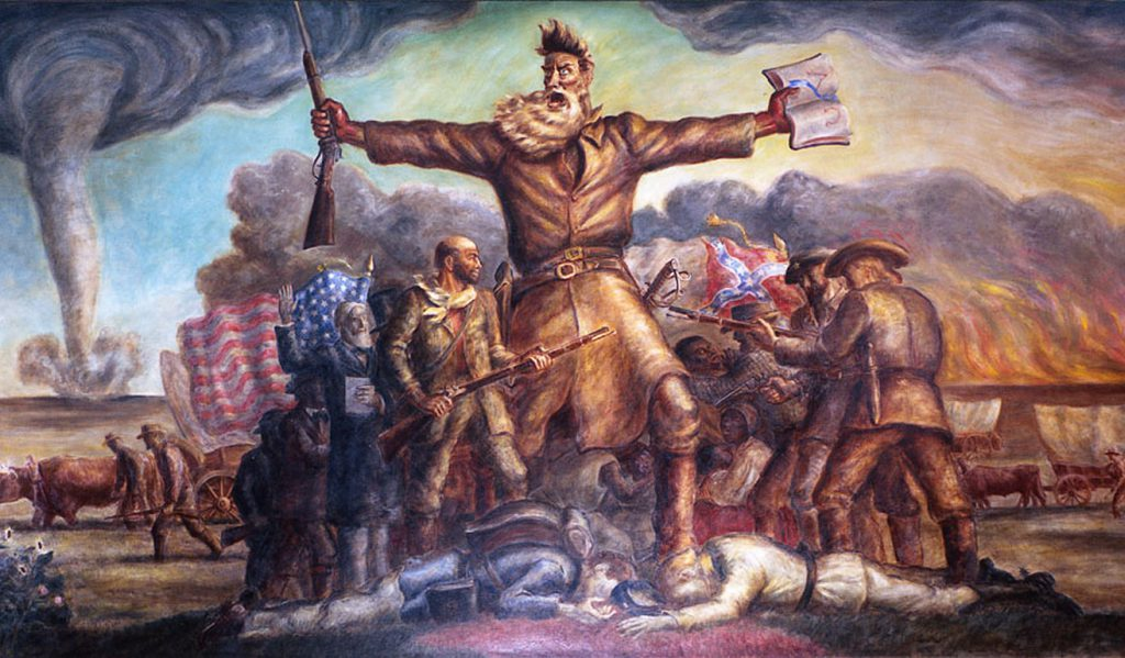 John Brown depicted in the John Steuart Curry painting The Tragic Prelude
