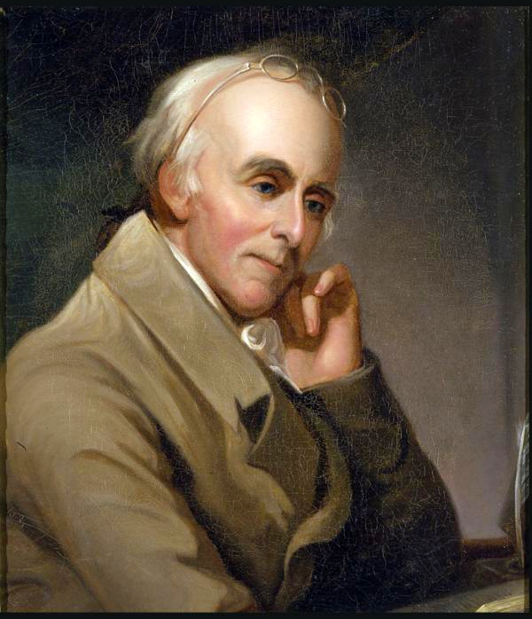 Portrait of Benjamin Rush by Charles Willson Peale, circa 1818
