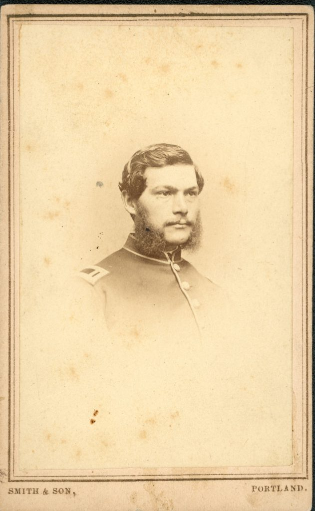 George Bicknell, carte de visite. From the collection of the Fifth Maine Regiment Museum