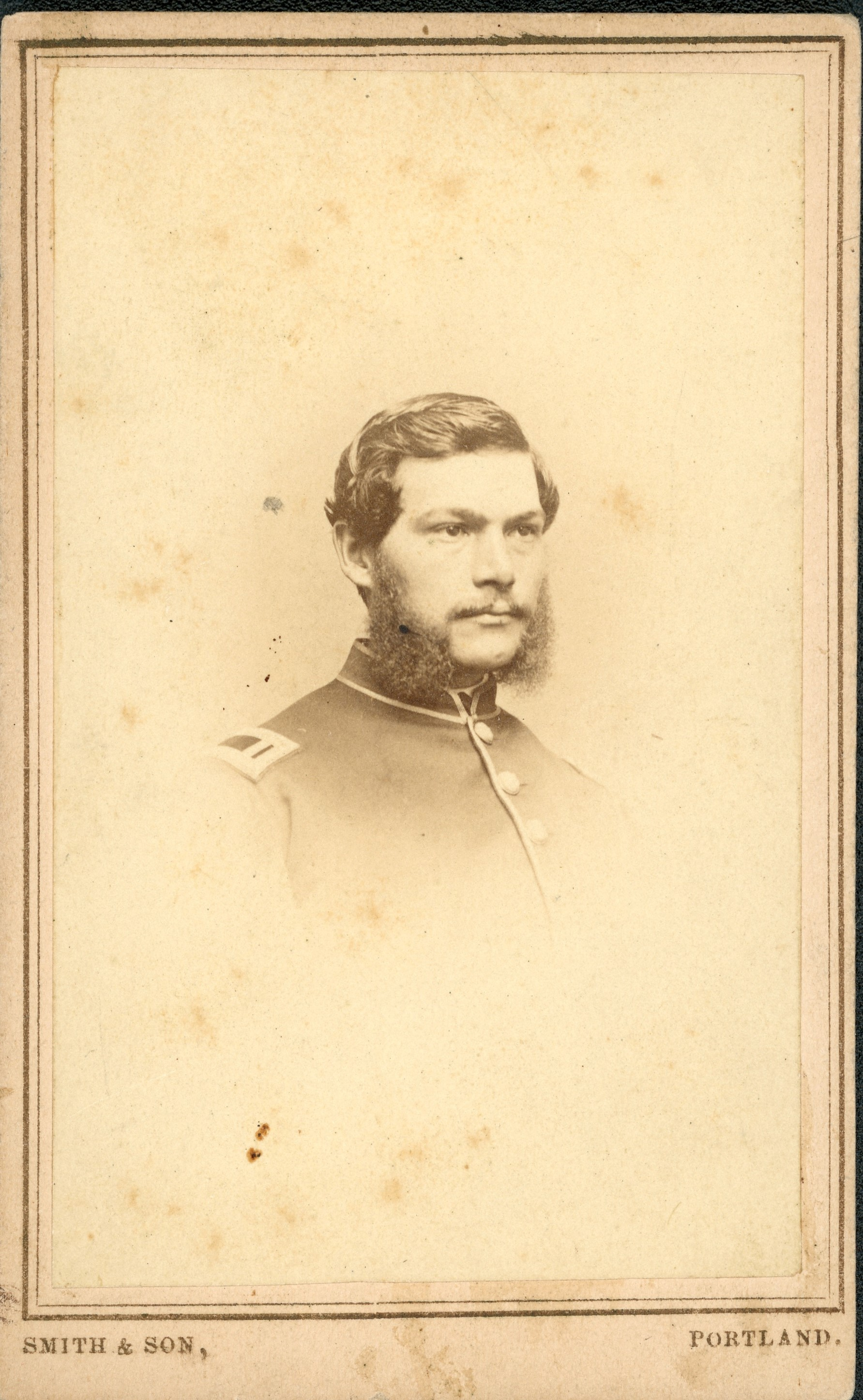 George Bicknell Carte De Visite From The Collection Of Fifth Maine Regiment Museum