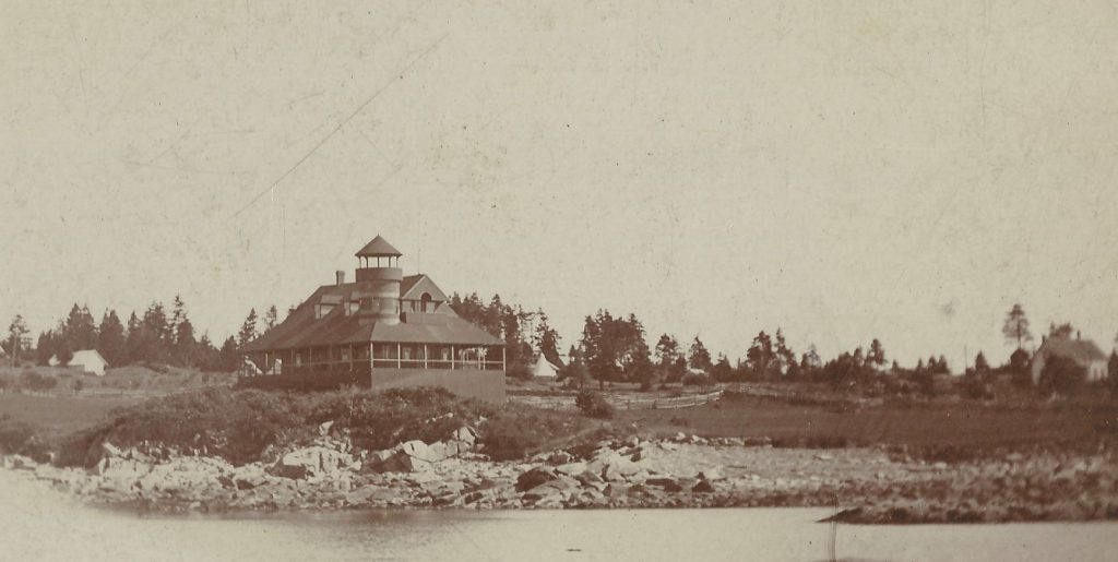 Fifth Marine Memorial Hall, circa 1890. From the collection of the Fifth Maine Regiment Museum