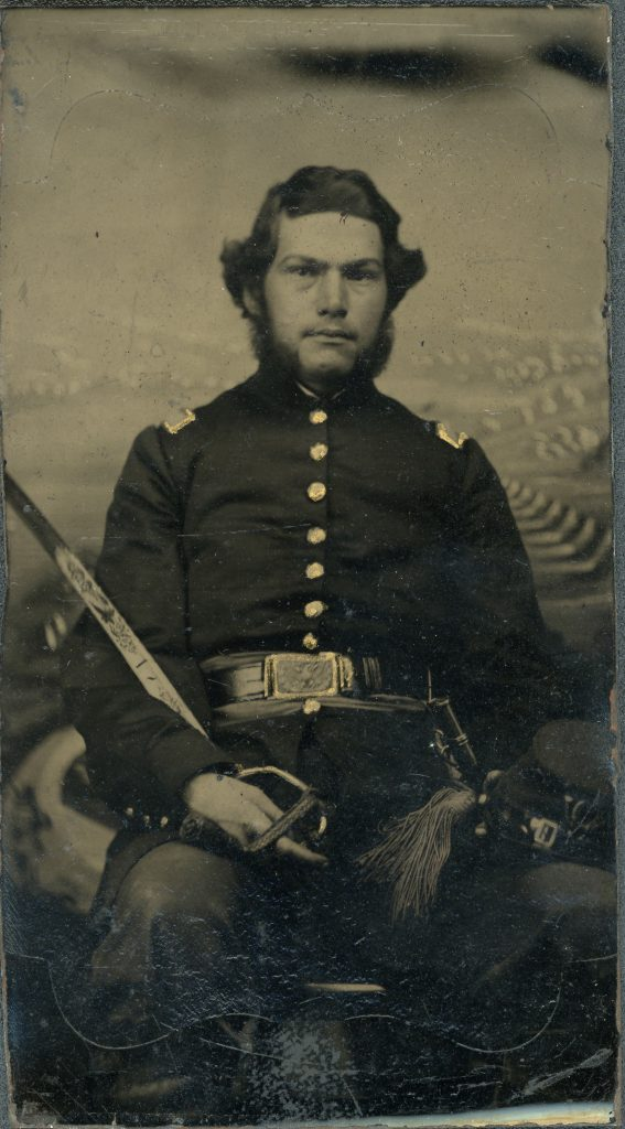 George Bicknell, tintype. From the collection of the Fifth Maine Regiment Museum