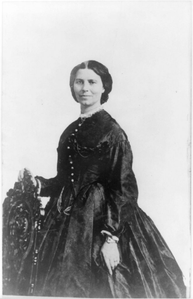 Clara Barton, 1865. Courtesy of the Library of Congress