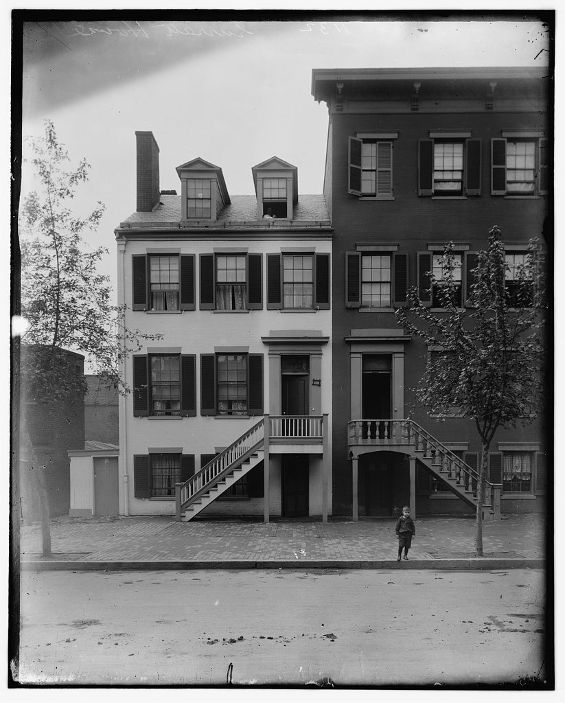Mary Surratt House, 604 H Street, Washington, DC. Courtesy of the Library of Congress