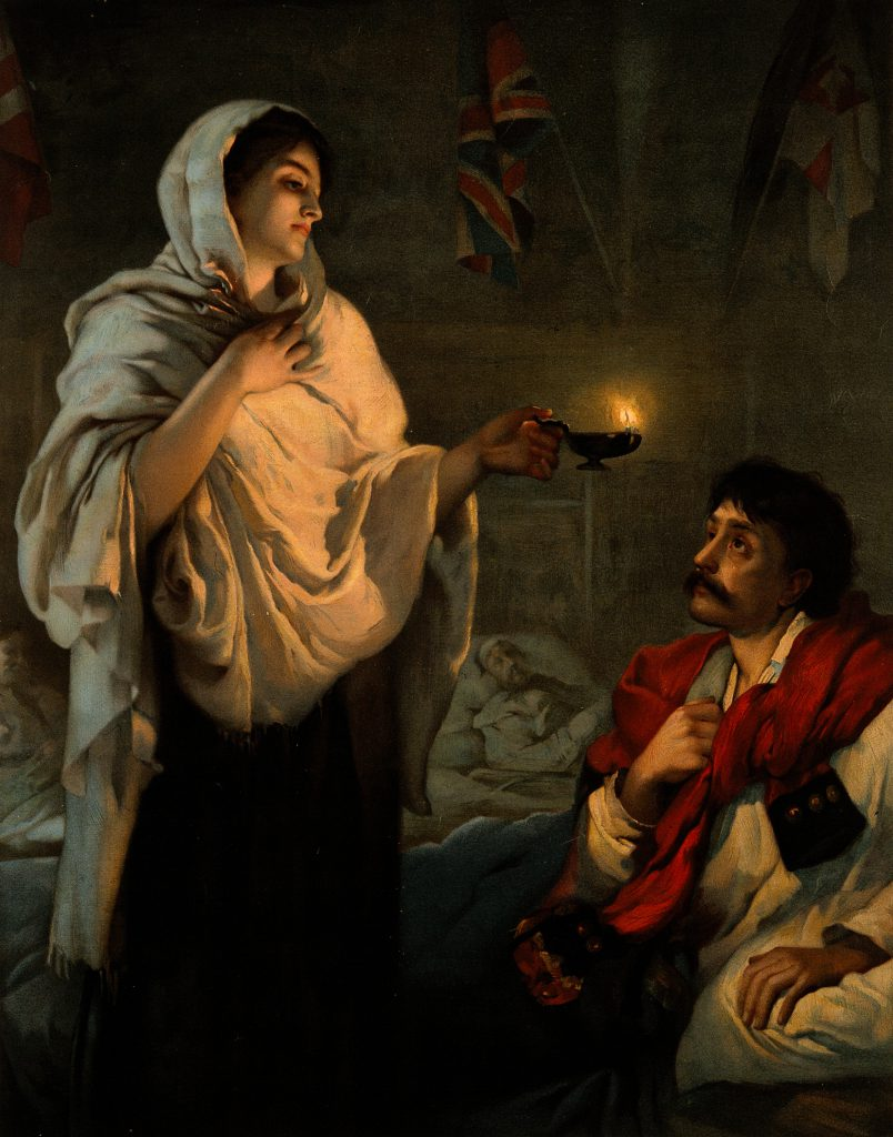 The Lady with the Lamp 1891 painting of Florence Nightingale. Courtesy of Wiki Commons