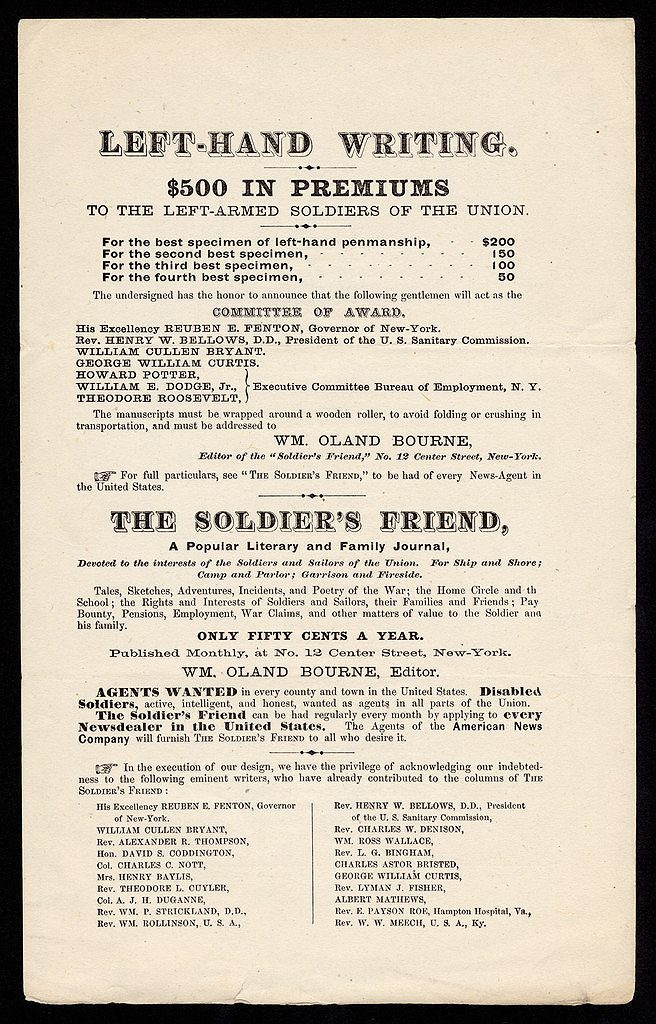 A handbill advertising one of Bourne's contests. Courtesy of the Library of Congress